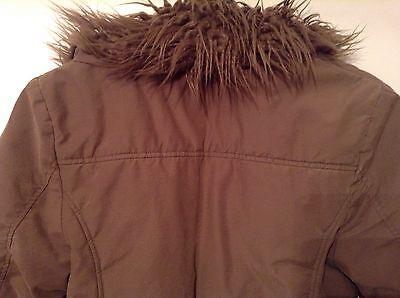 Girls 🌷Quiksilver Teenies 🌷 Brown Coat, Age 10 Years Old, Faux Fur Collar 4