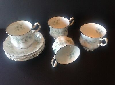 4 Paragon China Debutante Teacup and Saucer Made in England Never Used 2
