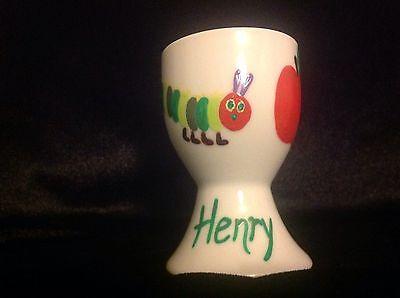 Handpainted Personalised Eggcups - Flowers, Superheroes, Sports, Animals Designs 6
