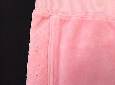 NWT Juicy Couture New Gen.Pink Velour Tracksuit Pants Scotty Dog Logo Girl Age 8 2