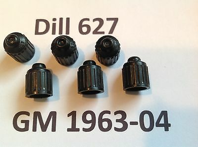 6 NOS Corvette 1963 1964 1965 1966 1967 1968 1969 1970 Dill 627 valve stem caps 7