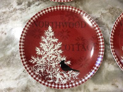 5 Of 11 Northwood Cottage Dessert Plates 222 Fifth. Set Of 4. Porcelain. New. & Northwood Cottage Dinnerware u0026 222 FIFTH NORTHWOOD COTTAGE - ROUND ...