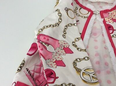 Miss Grand Outfit, Set, Size 38, Age 10,Skirt, Top & Cardigan, Pink & White, Vgc 4