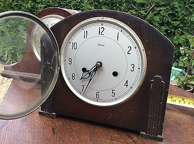 Federal Oak Mantel Clock Art Deco Period Project Barn Fresh