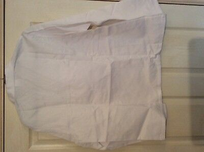 "Alexandra white Lab / catering ect Thick smock top W12 size 45.5"" chest 5"
