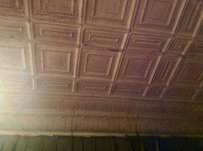 "2 each Reclaimed 12x12"" Antique 1880's Ceiling Tins/Tiles-Historic Joplin MO 8"