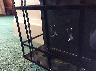 """Large Black Metal Outdoor Sconce Arched Top With Glass 18"""" X 12""""  Light Fixture 3"""