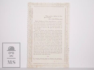 Antique Paper Lace Holy Card - Sacred Heart - L. Turgis Ed., Paris, France 2