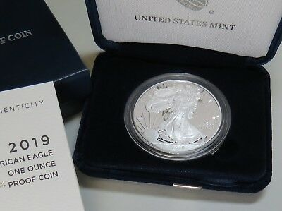 2019-W AMERICAN SILVER EAGLE PROOF w/BOX+COA BRAND NEW ~ ON HAND READY TO SHIP! 4