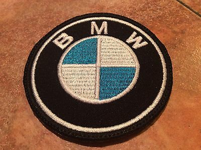 **LOVE IT OR IT'S FREE** BMW  Iron on Patch embroidered on Black Fabric, Free Sh 5