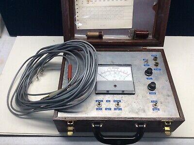 Vintage Weston Volts/Milliampers Wood Box Untested Motorola Pt. No. 72D82794C01 5