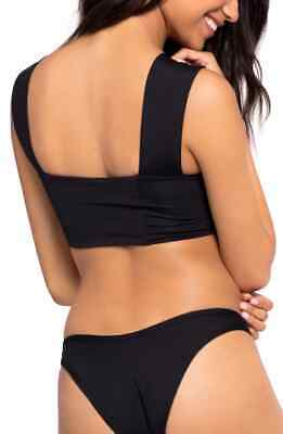 L Space Parker Black Bikini Top Women/'s Size Large 3102