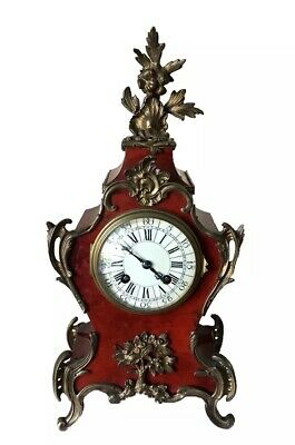 19th Century French Japy Frères Tortoiseshell Veneered Mantel Clock 2