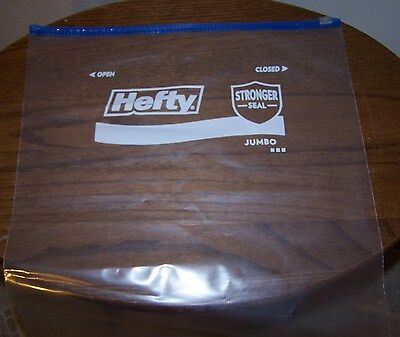 4 Of 10 Box 12 Hefty Jumbo Slider Bags 2 5 Gallons Many Uses Made In Usa
