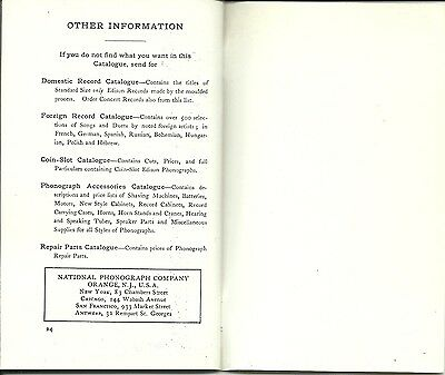 BOOKLET 24 PGS EDISON PHONOGRAPHS 1903 INTRODUCTION /& PRICE GUIDE ADVERTISEMENT