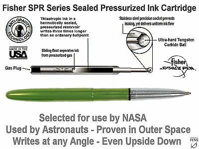 Fisher Space Pen #400LG / Lime Green Lacquered Bullet Space Pen 7