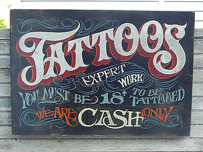 Tattoo Shop Policy Print  art decor print vintage  style ink flash  poster 4