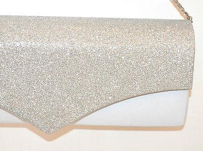 ... POCHETTE donna argento borsello borsa brillantini elegante da cerimonia  sac F60 2 be7e6849aff