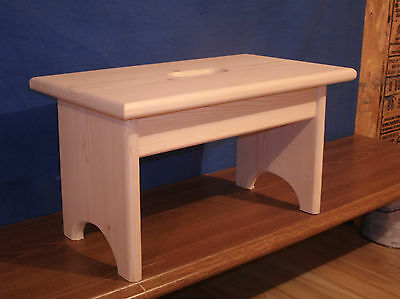 Wondrous Wooden Step Stool With Hand Hole 9 Unfinished Pine 37 99 Short Links Chair Design For Home Short Linksinfo