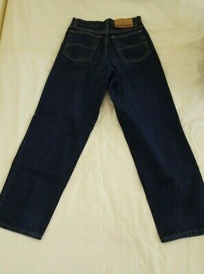 "M&S Marks & Spencer Boys' Navy Blue Jeans Trousers Age 12 Waist 26"" / Leg 29.5"" 7"