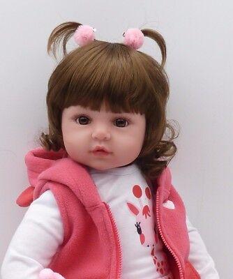 "19"" inch Baby Reborn Doll Vinyl Silicon Life Like Baby Toddler Girl Kids Reborn 6"