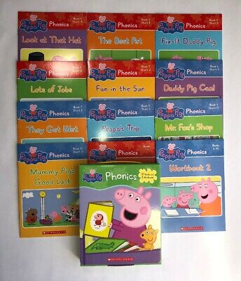 Peppa Pig Childrens Books Phonics Learn to Read Gift Set Lot 12 8