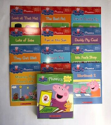 Peppa Pig Childrens Books Phonics Learn to Read Gift Set Lot 12 6