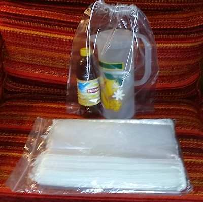 """50-12""""x16"""" Double Drawstring Clear Poly Plastic Bags 2 MIL Reusable/High Clarity 3"""