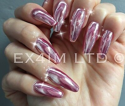 1 Of 11 Rose Gold Mirror Chrome Powder 3gr Effect Nails Art Pigment Silver Uk R