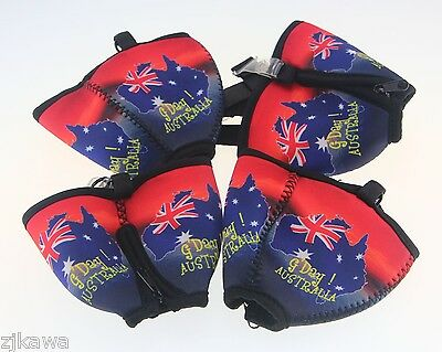 4x Wine Glass Cooler Insulator Holder with Lanyard AUSTRALIA Souvenir 12