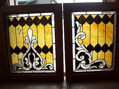 3 pc. set of elaborate windows beautiful bevel cuts magnificent design (SG 1287) 4