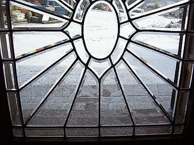 Oval Center Bevel burst glass window  (SG 1367) 2