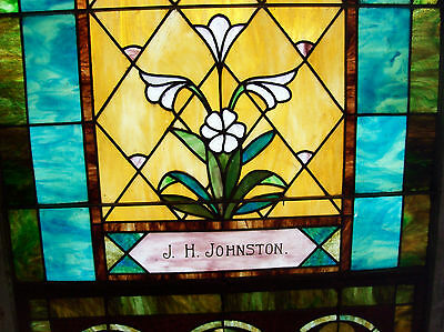 Stained glass window w/ flower and MIGHTY GOLDEN CHALICE #3 7