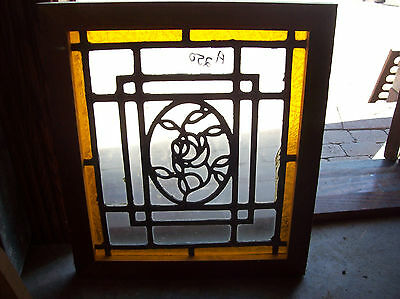 Arts & Crafts Window Rose In Oval Center (SG 1182)