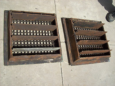 "2 avail. Large Heating Grates Insert 18"" x 18""  Simple Squares 5"