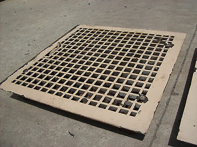"2 avail. Large Heating Grates Insert 18"" x 18""  Simple Squares"