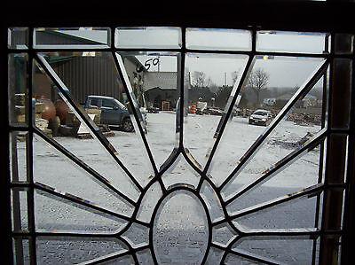 Oval Center Bevel burst glass window  (SG 1367) 3