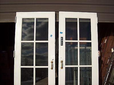 Set of  painted metal clad double doors   (MC 3) 3