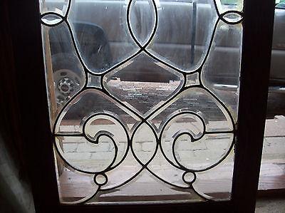 swirly beveled glass window  (SG 1462)