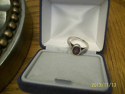 Men's Ring SJ 925 Silver With Amethyst Oval Cut Stone Ornate Setting