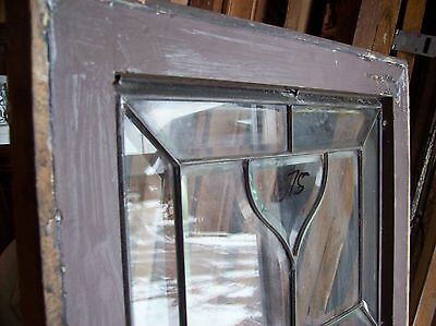 "Beveled glass window 65"" x 20 1/2""    (SG 1540) 4"