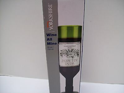 Wine All Mine Wine Glass Holes Full Bottle of Wine By Barbuzzo Great Gift