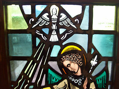 Annunciation Gabriel and Mary Stained glass window (SG 1431) 2