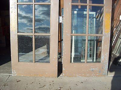 Set of  painted metal clad double doors   (MC 3) 5