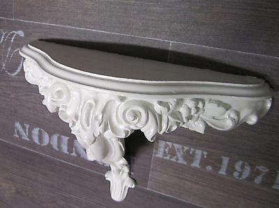 KONSOLE M BAROCK Silber 31x21x12cm Retro Wandspiegel ablage Neu Wandkonsole