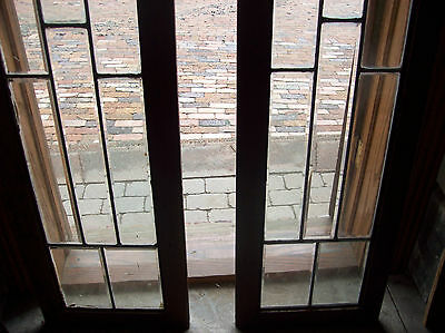 Pair of Beveled glass sidelites circle feature  (SG 1470) 2