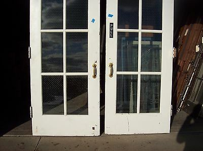 Set of  painted metal clad double doors   (MC 3) 2