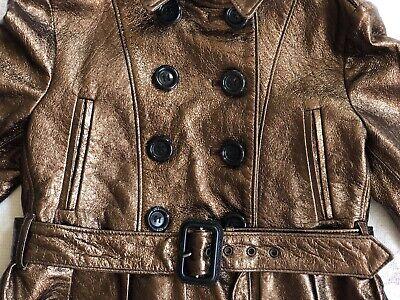 BURBERRY Children Mädchen Jacke Leder Gr.122 6-7 years girls leather jacket belt 5