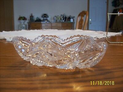 Imperial Glass Clear Vtg Sawtooth Strawberry Cut & Hob Star Serving Candy Dish 3
