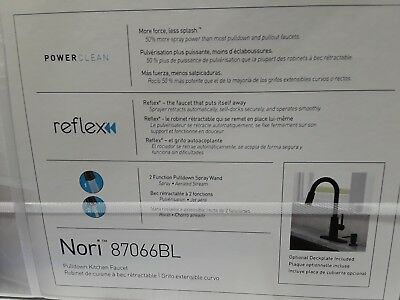 Moen Nori Matte Black One Handle Pulldown Kitchen Faucet With Reflex 87066bl 294 99 Picclick